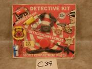 C39 Vintage Toy Detective Kit Police 007 Ring Maine Sheriff Badge Dick Tracy
