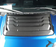 Real Carbon Fiber Front Hood Cover Trim 1pcs For Ford F150 F-150 2015-2020