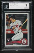 2011 Topps Update Mike Trout Us175 Bgs 9 Rookie