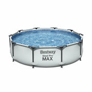 Bestway 10and039 X 30 Steel Pro Frame Max Round Above Ground Swimming Pool With Pump