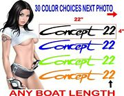 Concept Boat Decal Decals 22 X 4 Set 2 Decals 30 Plus Colors To Choose From