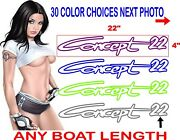 Concept Boat Decal Decals Outlines Set 2 Decals 30 Plus Colors To Choose From