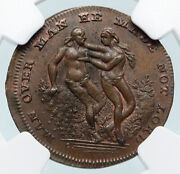 1790s England Uk Middlesex London Adam And Eve Spence 1/4p Conder Ngc Token I85329