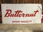 Lqqk Large Original Vintage Butternut Bakery Products Sign Old Bread Rolls Buns