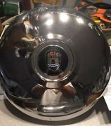 Pair Of Wolfsburg Crest Hubcaps From 1969 Karmann Ghia-used- Nice Colors