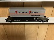 ✅mth Premier Southern Pacific Flat Car And 40' Trailer O Scale Sp Tofc Intermodal