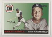 2006 Topps Multi-year Issue Home Run History Mickey Mantle Mhr450 Hof