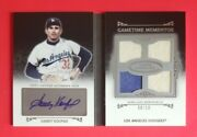 Sandy Koufax Signed 2011 Topps Marquee Baseball Quad Auto Patch Jersey Card 8/10