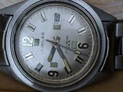 Vintage Jubilee Skin Diver Watch W/all Ss Case,bambi Band,runs For Parts/repair