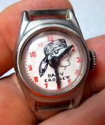 Vintage Rare 1950s Davy Crockett Toy Watch Face, No Band, Doesnt Wind Kids Toy