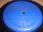 78rpm Vocalion 04172 Gene Autry, Take Me Back To My Boots And Saddle / Dust V