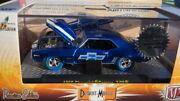 M2 1969 69 Chevy Camaro Z/28 Super Chase Blue Tires 1/252 Made 1/64 Diecast
