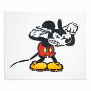 Jeff Gillette - Mickey Suicide - 6 Color Hand-painted Stencil - Banksy Dismaland