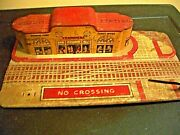 Old 1940's Marx Union Station Tin Toy As Pictured