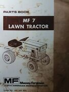 Massey Ferguson Mf 7 Lawn Garden Tractor And Implements Master Parts Manual