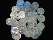 Washington Quarters Roll 40 90 Silver Mixed Dates And Mints 10 Face Value L1