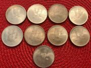 9 Huge 33g Each Troy Ounce 1980 And 1979 Pura Plata Silver Coin.