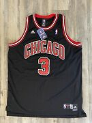 100 Authentic Ben Wallace Adidas Chicago Bulls Jersey Size Xxl Mens