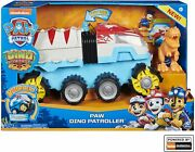 Paw Patrol Dino Rescue Dino Patroller Motorized Team Vehicle W/ Chase And T. Rex