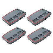 Stupid Car Tray Multi Function Food And Drink Travel Organizer, Gray/red 4 Pack