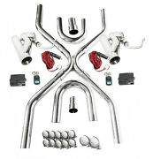 Universal 2.5exhaust System Builder X-pipe Tubing Kit W/2 Electric Cutout Valve