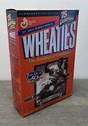 Vintage Wheaties Cereal W/ Jackie Robinson 50th 18 Oz Full Box Factory Sealed