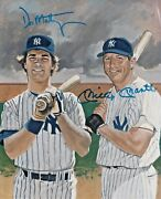 Mickey Mantle And Don Mattingly Signed 8x10 Photo - Psa Dna Loa Price Reduced