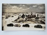 Vintage Mexico Photo Postcard Rppc Early Street Scene Stores Signs Cars Reynosa