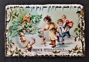 1880 Antique Astrich Millinery Allentown Pa Ad Card Child Toys Doll Clown Train