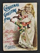 Antique Christmas Child Book Cleveland Oh The May Co Largest Dept Store Ad Santa