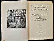 1916 Antique Institution Care Of The Insane Feeble Minded 880 Pgs Vol 2