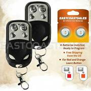 2 For Liftmaster 971lm Button Garage Door Opener Remote Control 390mhz Keychain