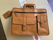 Tumi 40th 1975 Anniversary Leather Day Tote Travel Briefcase Limited Edition