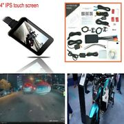Motorcycle Dash Cam Wifi Fhd Front Rear View Camera Gps Logger Recorder Durable