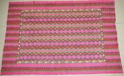 Old Tribal Chinese Minorityand039s Original Hand-woven Embroidery Blanket Bedspread