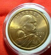 2000 P Sacagawea 1 One Dollar Coin Brilliant Uncirculated From Mint Roll
