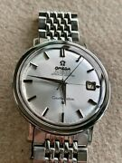 Vintage Omega Constellation Chronometer Automatic Star Silver Dial Mens Watch