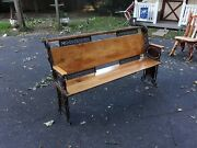 Antique Victorian Cast Iron Church Pew Or Schoolhouse Bench Extraordinary