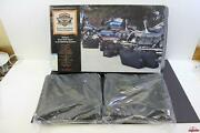 New Harley Davidson 2000 And Later Softail Leather Bag Kit Part 90130-00a