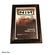 Nine Inch Nails Reznor North Band Signed 2006 With Teeth Poster