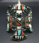 Museum Quality Teddy Weahkee Vintage Zuni Knifewing Cuff Bracelet Circa 1950s