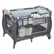 Baby Trend Trend E Nursery Center Playard Play Crib With Bassinet Doodle Dots