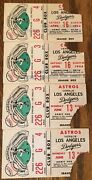 1966 Los Angeles Dodgers Ticket Stub Lot Of 4 Fire Game Box Seats Rare