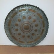 Antique Persian Islamic Tinned Copper Large Tray