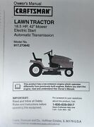 Sears Craftsman 18.5hp Hydr Dyt4000 Lawn Tractor 917.273642 Owner And Parts Manual