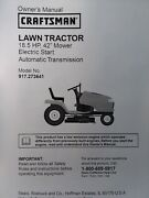 Sears Craftsman 18.5hp Auto Dyt4000 Lawn Tractor 917.273641 Owner And Parts Manual