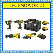 Dewalt Dcz494p2-xe 4pc Kit◉reciprocating Saw◉grinder◉hammer Drill◉impact Driver