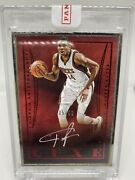 2014-15 2nd Year Luxe Giannis Antetokounmpo Red Silver Metal Frame Auto /49