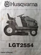 Husqvarna Lgt2554 Hydro Lawn Garden Tractor And Mower Deck Owner And Parts Manual