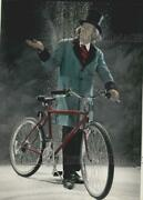 1985 Press Photo Scrooge With 15-speed Bicycle Made By Trek Bicycle Corporation